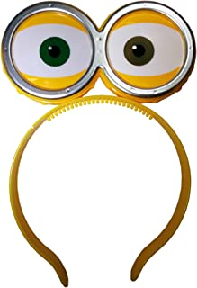 Nicky Bigs Novelties LED Light Up Eyeballs with Goggles Headband,One Size