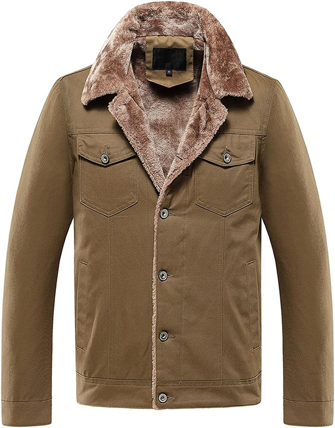 Max 70% OFF Men Classic Leather Jacket Lapel Motorcycle Long-Sleeved quality assurance Fleece