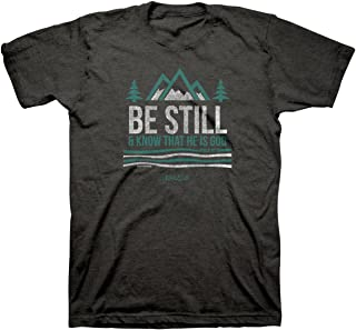 Men's Be Still and Know T-Shirt -Tweed-LG