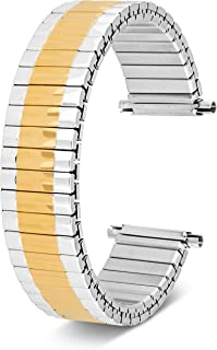 16-22mm, Men's Stretch Watch Band, Flex Radial Expansion Replacement Strap,Straight End,Expandable Ends,