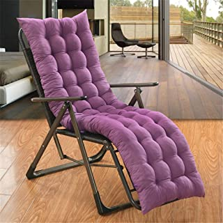 Xinrangxin Lounge Chair Cushions, Non-Slip Padded Rocking Cushions, Ideal for Indoor and Outdoor Garden Terrace Mattresses, Zero-Gravity Chairs, Folding Chair Cushion Straps,Purple