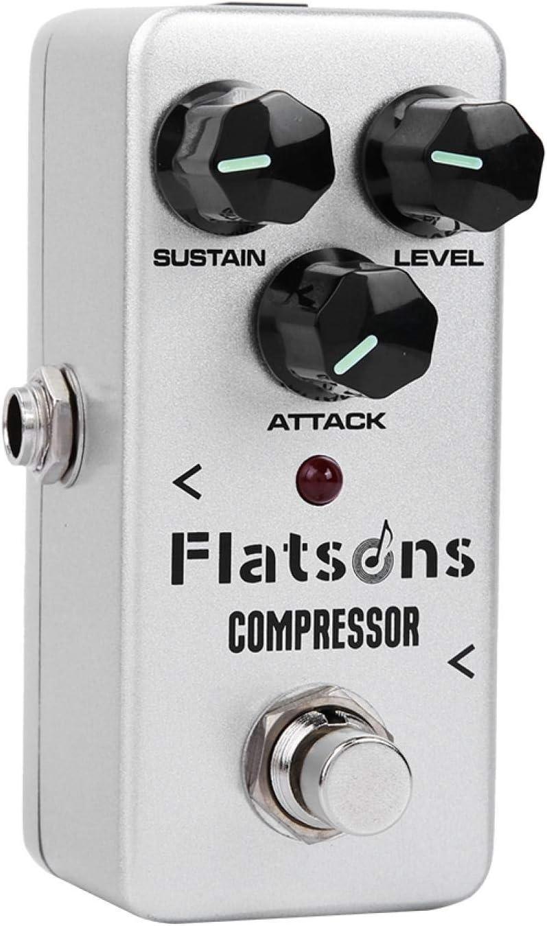 Pedal de efectos, mini compresor de pedal de efectos con diseño de circuito analógico puro, pedal de efectos de guitarra para un mejor efecto de sonido