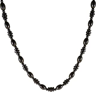 Zen Canyon Magnet Health Therapy Magnetic Hematite Small Oval Heishi Beads Necklace, 18""