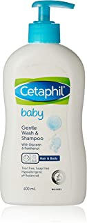 Cetaphil Baby Gentle Wash and Shampoo with Glycerin and Panthenol, 400 milliliters