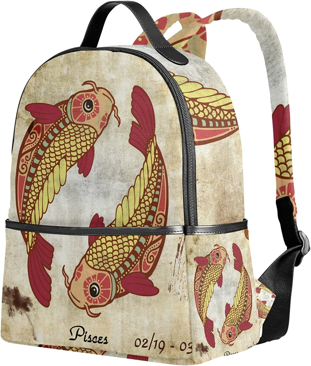 ab22c2d1616f Zodiac Sign Unisex Rucksack Canvas Satchel Casual Daypack,School ...