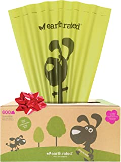 Earth Rated Dog Poop Bags, Dog Waste Bags on a Large Single Roll, Grab and Go, Guaranteed Leak-proof, Great for Backyard P...
