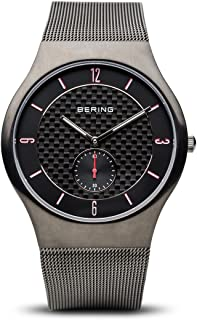 BERING Time 11940-377 Mens Classic Collection Watch with Mesh Band and Scratch Resistant Sapphire Crystal. Designed in Denmark.
