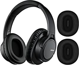 Mpow H7 Plus Bass Bluetooth Headphone Over Ear, 18hrs Playtime Comfortable Wireless Headphones, Replaceable Earmuffs, Rechargeable CVC6.0 Bluetooth Headset with Mic for Cellphone/Tablet/PC