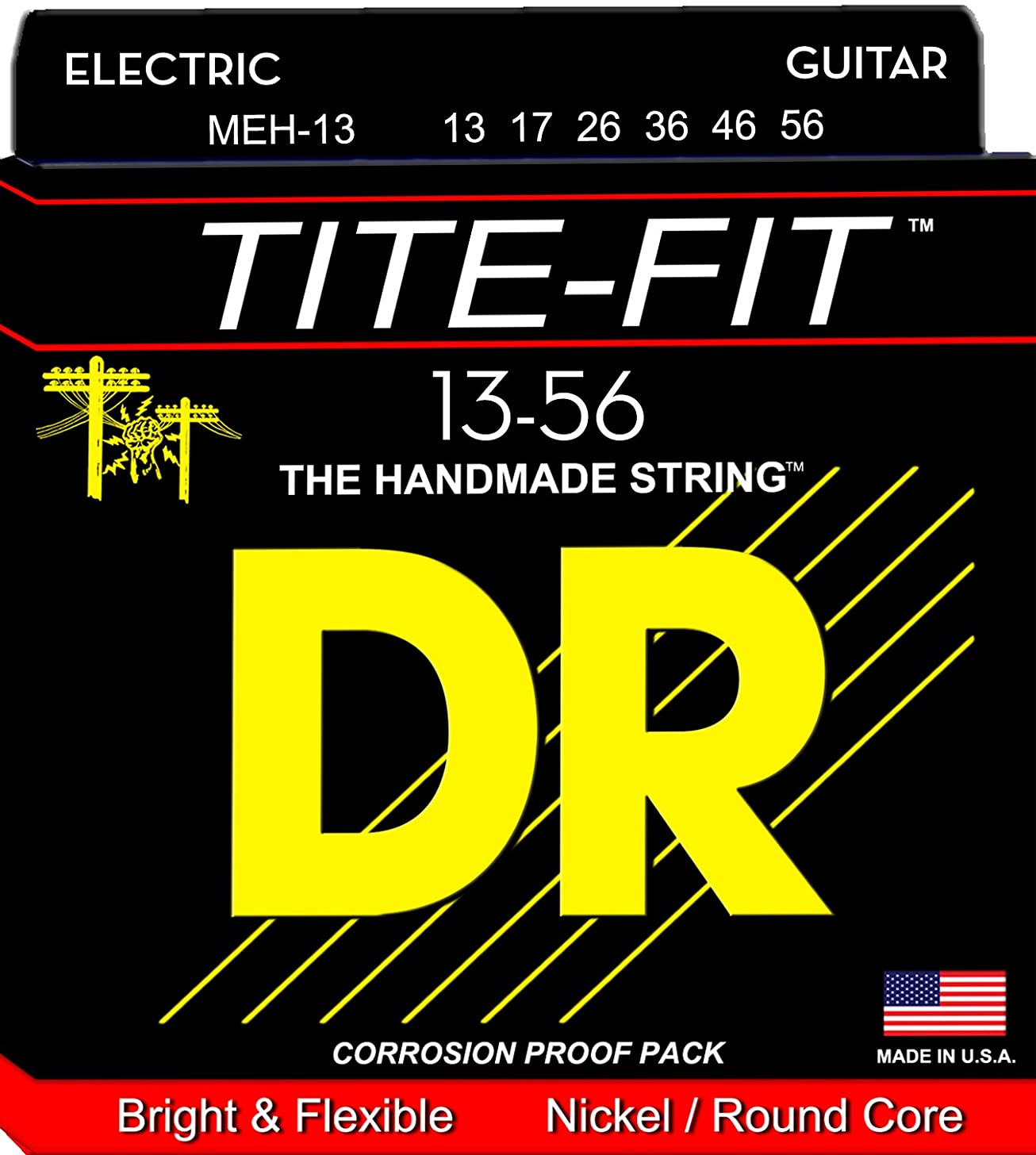 DR Strings Tite Fit Electric Round Core 13-56
