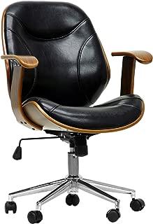 Baxton Studio Rathburn Modern Office Chair, Walnut/Black