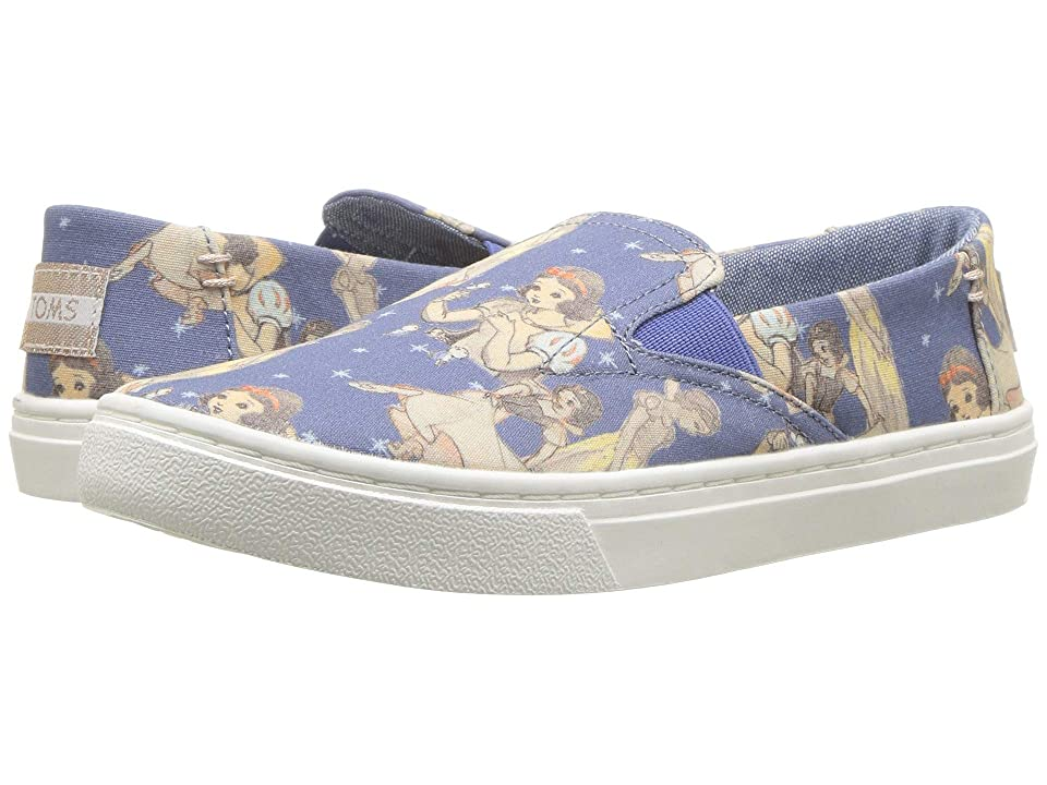 TOMS Kids Luca Disney(r) Princesses (Little Kid/Big Kid) (Blue Snow White Printed Canvas) Girl