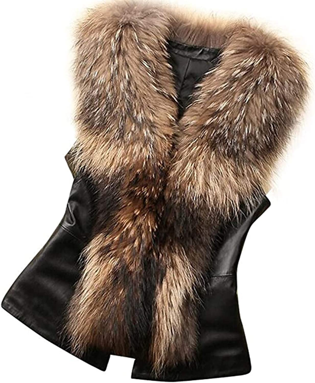 Women Warm Vest Coat,BARUN Girls Faux Fur Waistcoat Outwear Sleeveless Autumn Winter Jacket