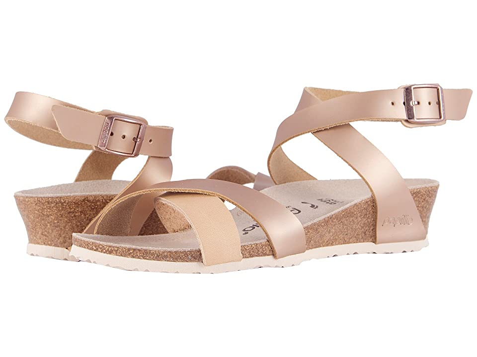 Birkenstock Lola (Frosted Metallic Rose Leather) Women