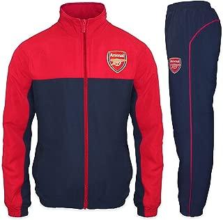 Arsenal Football Club Official Soccer Gift Mens Jacket & Pants Tracksuit Set