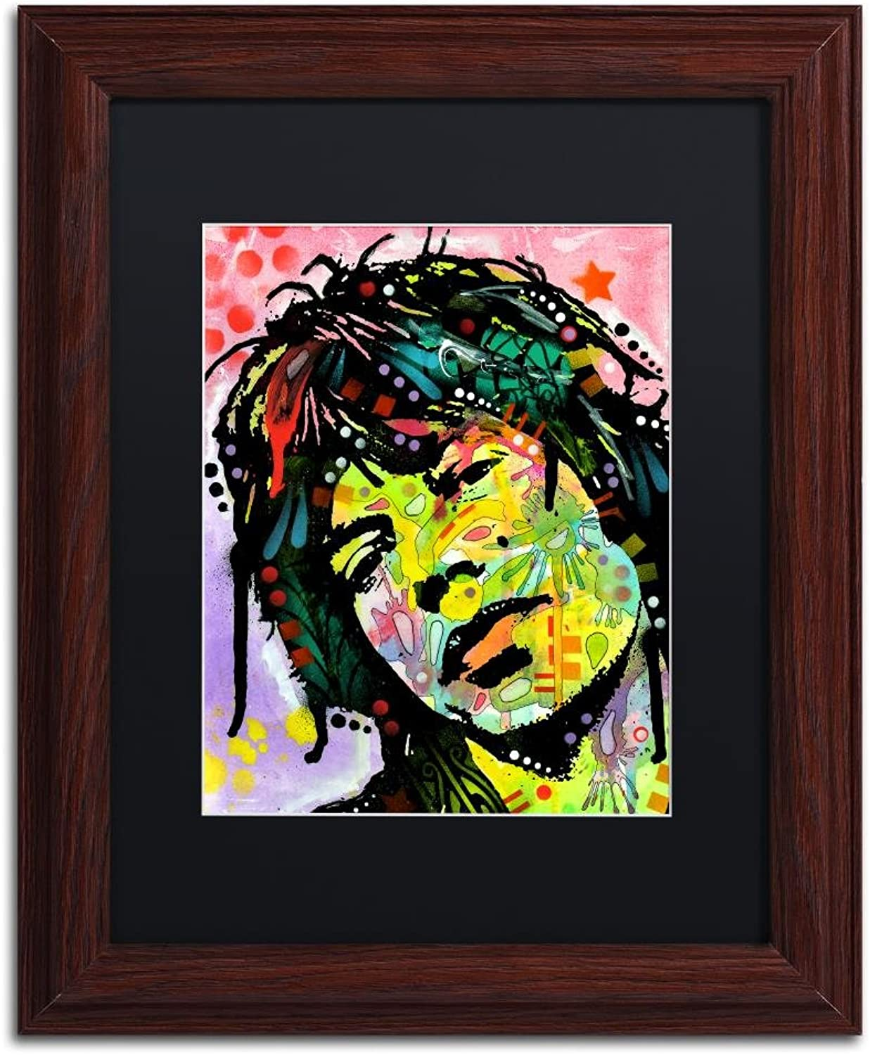 Trademark Fine Art Mick Jagger by Dean Russo, Black Matte, Wood Frame 11x14