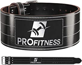 Weight Lifting Belt (4 Inch Wide) – Genuine Leather Workout Belt for Men & Women - Great for Weightlifting on Squats, Deadlift, Cross Training and Gym Workouts - Back Support and Injury Prevention