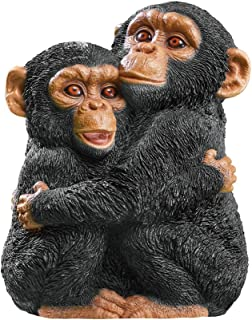 Collections Etc Hugging Chimps Monkey Animal Garden Statue