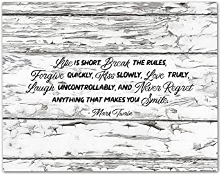 Best mark twain life is short quote Reviews