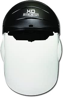 MCR Safety 104 XO Skeleton Nylon Ratchet Headgear with Clear Faceshield, Black Matte, 1-Pair