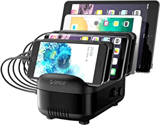 Charging Station for Multiple Devices,ORICO Fast Charging Dock Station Organizer with 7 Ports for iPhone, iPad, Samsung, A...
