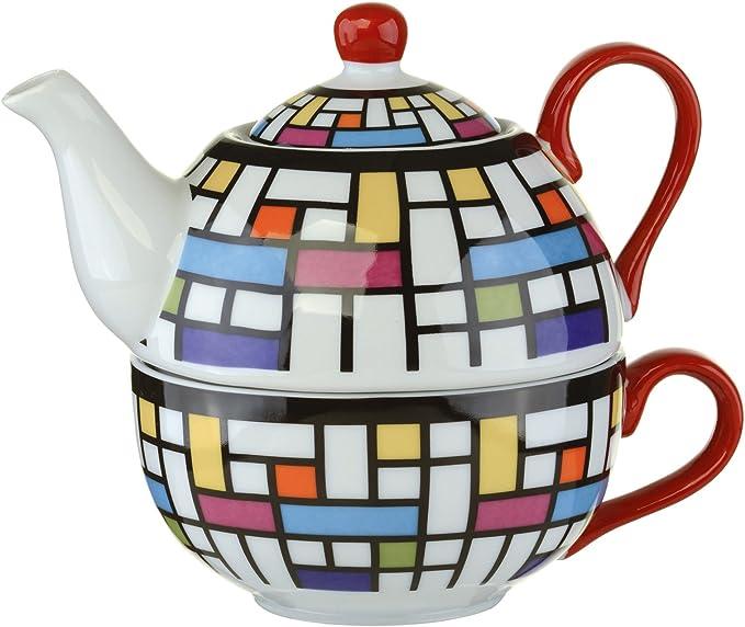Servizio da t/è Portatile in Ceramica 1 vasetto da 2 Tazze a Set da t/è Kung Fu Tasse /à th/é Ceramica Urben Life sac per Ufficio di Viaggio