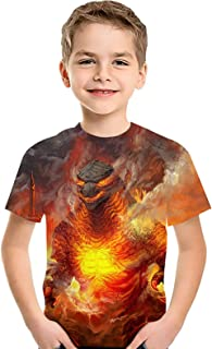 CHOICE99 Boys Cartoon Monster Shirt Kids t-Shirt 3D Printing Shirt for boy Girl Summer Tops tee