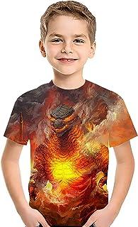 تي شيرت للأطفال من CHOICE99 مطبوع عليه صورة وحش كرتونية ثلاثية الأبعاد للصبية والفتيات