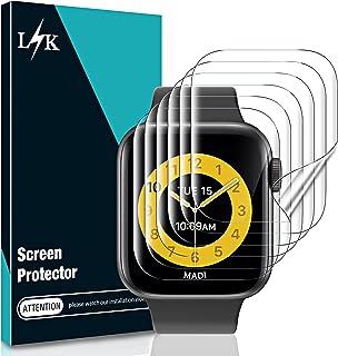 LϟK 6 Pack Protector de Pantalla para Apple Watch Series 7 45MM - HD Flexible Película de TPU Sin Burbujas Sin Bordes Elev...