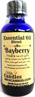 Mels Candles & More Bayberry 4oz / 118.29 ml Blue Glass Bottle of Premium Grade A Essential Oil Blend/Fragrance Oil.