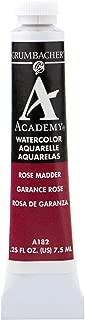 Grumbacher Academy Watercolor Paint, 7.5ml/0.25 Ounce, Rose Madder Hue (A182)