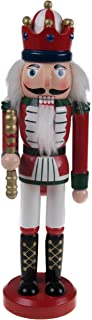 """Clever Creations Classic Red King Nutcracker Traditional Uniform 