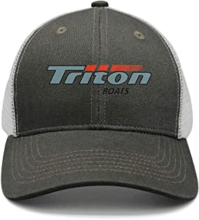 POIUPA Triton Boats Flat Cap Casual Distressed Hat