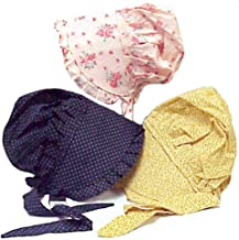Bonnet Large Made from 100% Cotton 'Colors May Vary'