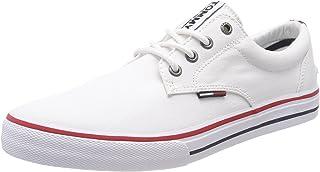 Hilfiger Denim Men's Tommy Jeans Textile Low-Top Sneakers, White (White 100), 7 UK (41 EU)