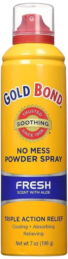ナット落ち込んでいる縮れた海外直送品Gold Bond Gold Bond No Mess Powder Spray, Fresh Scent With Aloe 7 oz (Pack of 4)