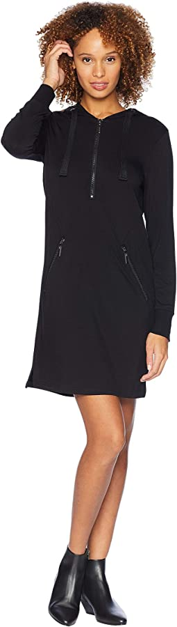 Long Sleeve Zipper Dress with Hood
