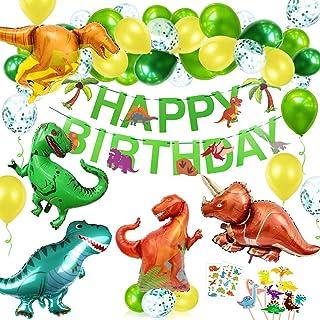 O-Kinee Décoration Ballon Dinosaure,Ballon Anniversaire Dinosaure,Dinosaur Party Décorations,Jungle Decoration Anniversair...