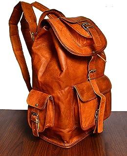 Artishus Genuine Leather Vintage Handmade Casual College Day-pack Cross body Messenger Backpack