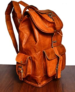 Artishus Genuine Leather Vintage Handmade Casual College Day-pack Cross body Messenger Backpack