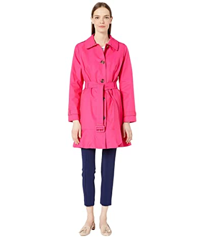 Kate Spade New York 35 Trench w/ Belt (Electric Pink) Women