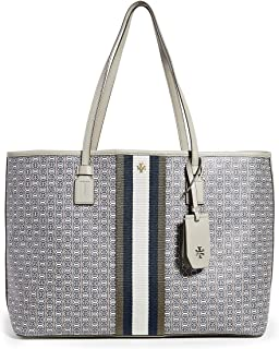 Tory Burch Womens Gemini Link Canvas Tote Tote Bag