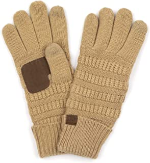 's Beanies Matching Winter Lined Warm Knit Touchscreen Texting Gloves