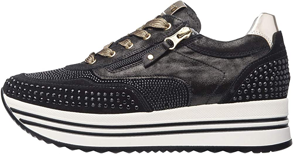 Nero giardini  sneakers scarpe donna esterno in pelle e altri materiali. A909010D 100