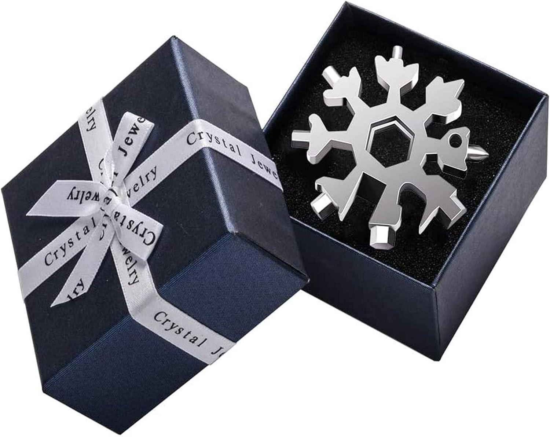 ZQXFZ 18-in-1 Edelstahl Schneeflocken Multifunktionswerkzeug,Geschenke f/ür M/änner,Multitool Edelstahl Fahrrad Multifunktionswerkzeug,18-in-1 Schneeflocken Multi-Tool schwarz