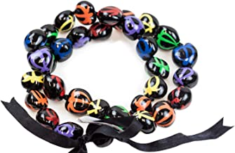 Barbra Collection Hawaiian Style Kukui Nut Lei Hand Painted Multi-Color Turtle 32 Inches