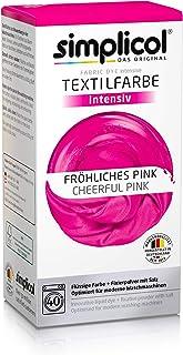 comprar comparacion Simplicol Kit de Tinte Textile Dye Intensive Rosa: Colorante para Teñir Ropa, Tejidos y Telas Lavadora, Contiene Fijador p...