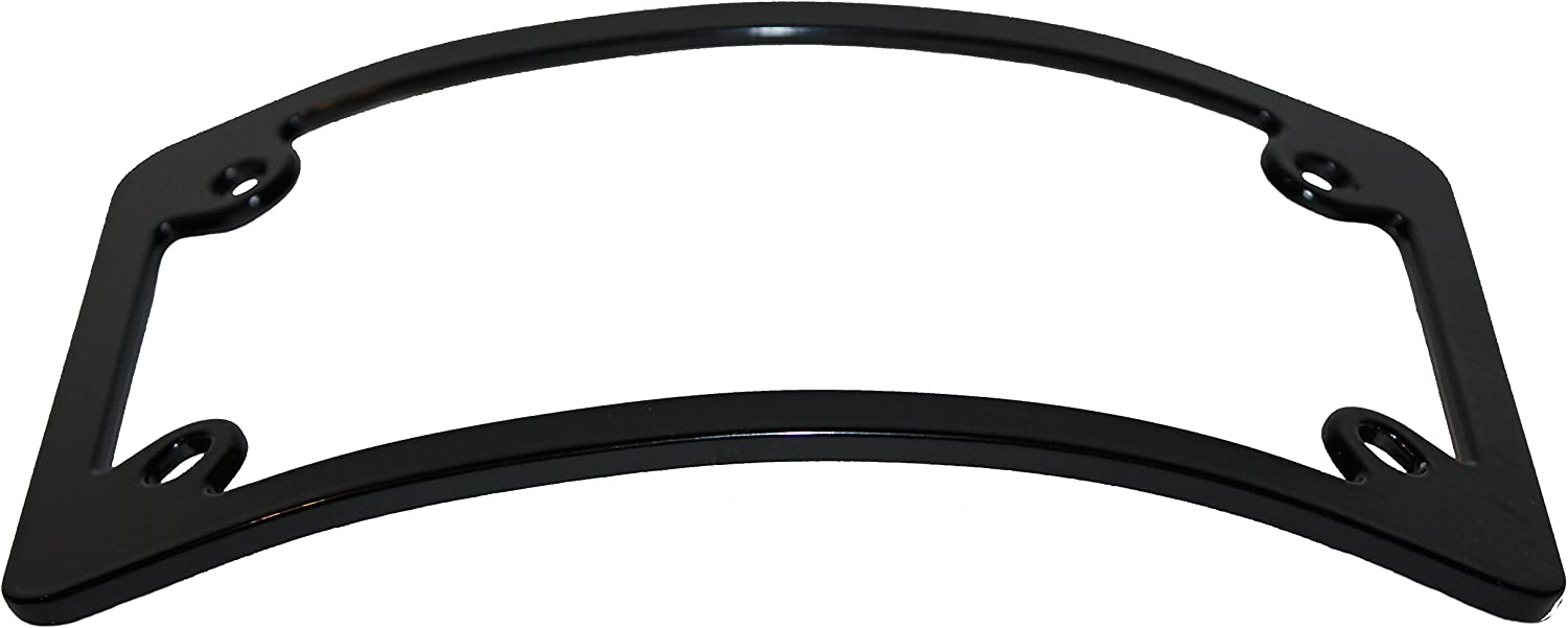 SEAL limited product Curved Motorcycle License Plate Black Rare Frame -