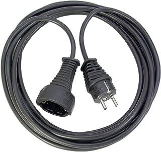 Brennenstuhl Qualitäts- Kunststoff-Verlängerungskabel mit Schutzkontakt-Stecker und -Kupplung Verlängerungskabel für innen mit 5m Kabel schwarz