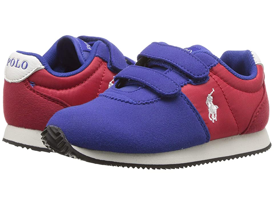 Polo Ralph Lauren Kids Brightwood EZ (Toddler) (Royal/Red Microsuede) Boy