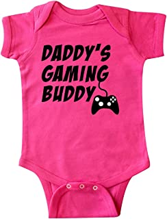 inktastic Daddy's Gaming Buddy with Controller Infant Creeper